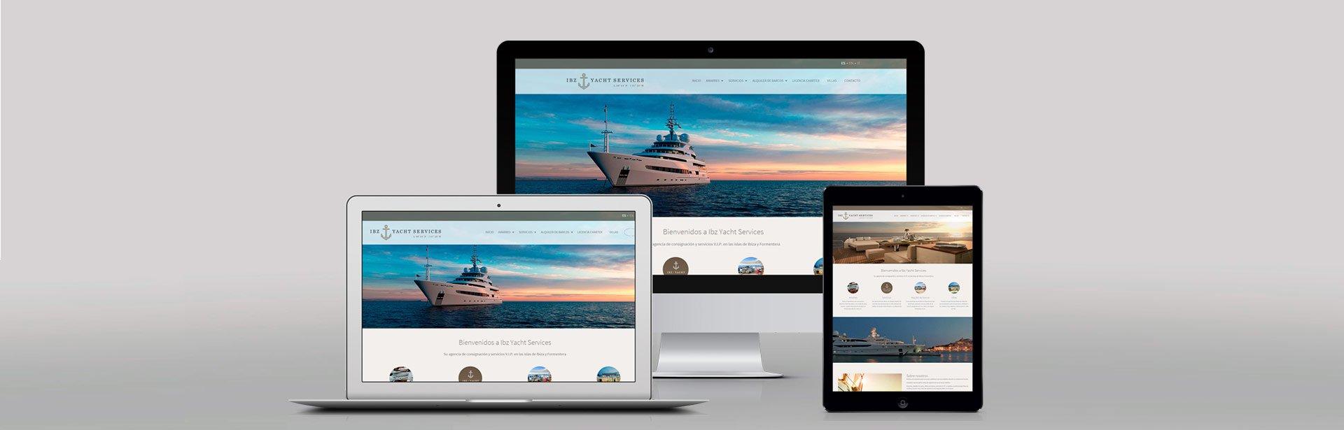 Diseño web Ibiza Yacht Services
