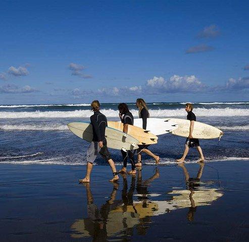 Surfers in las canteras