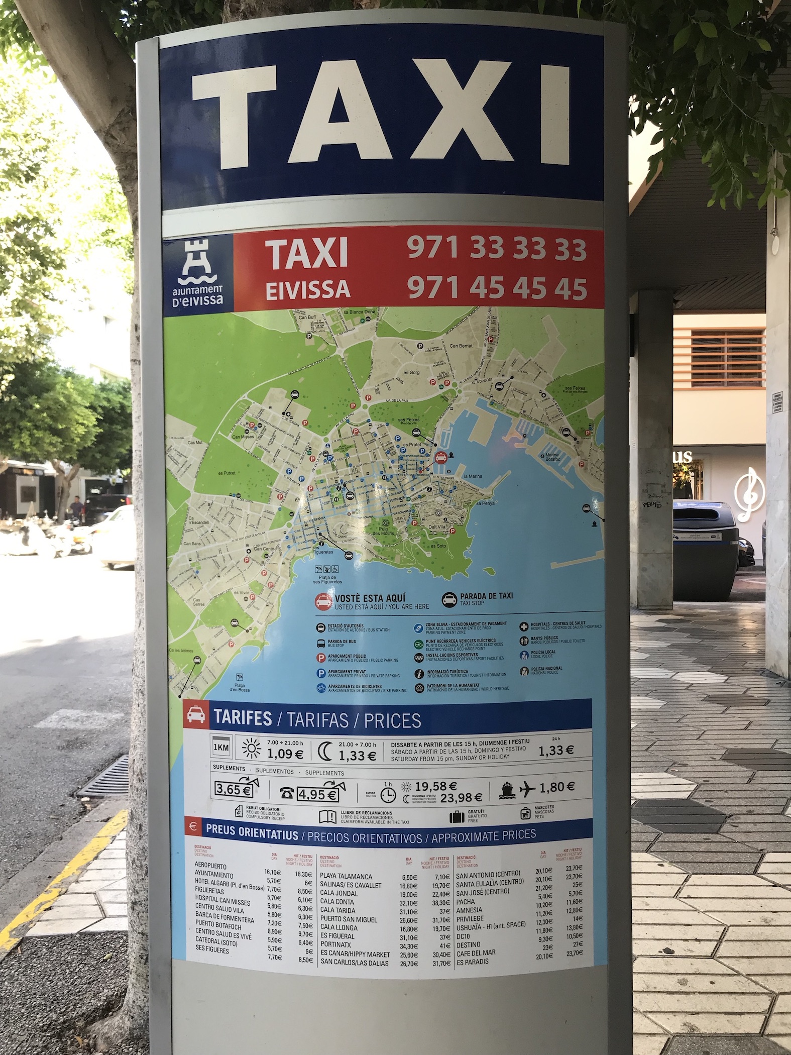 Imagen: parada taxi