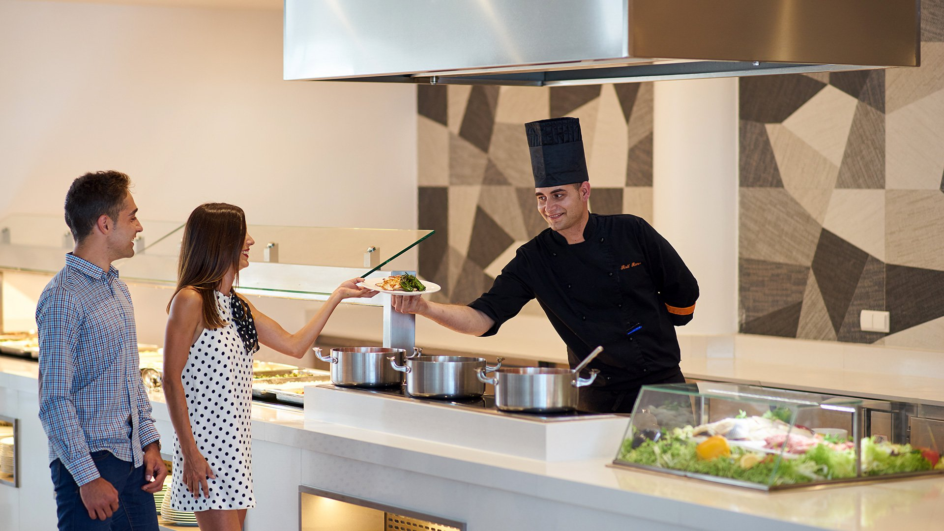 Buffetrestaurant mit Show-Cooking