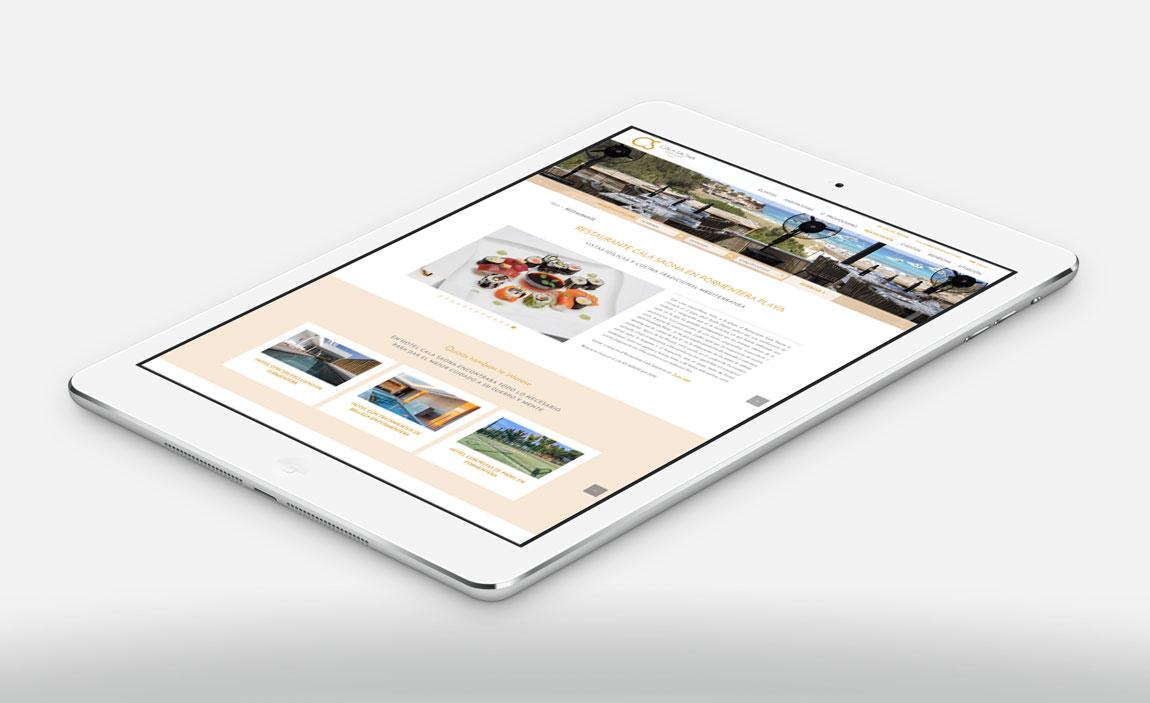 Cala Saona versión tablet