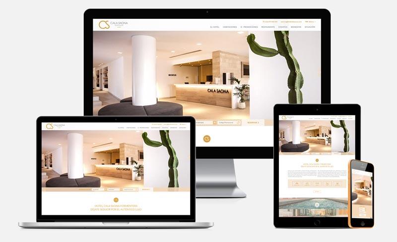 Diseño web Cala Saona