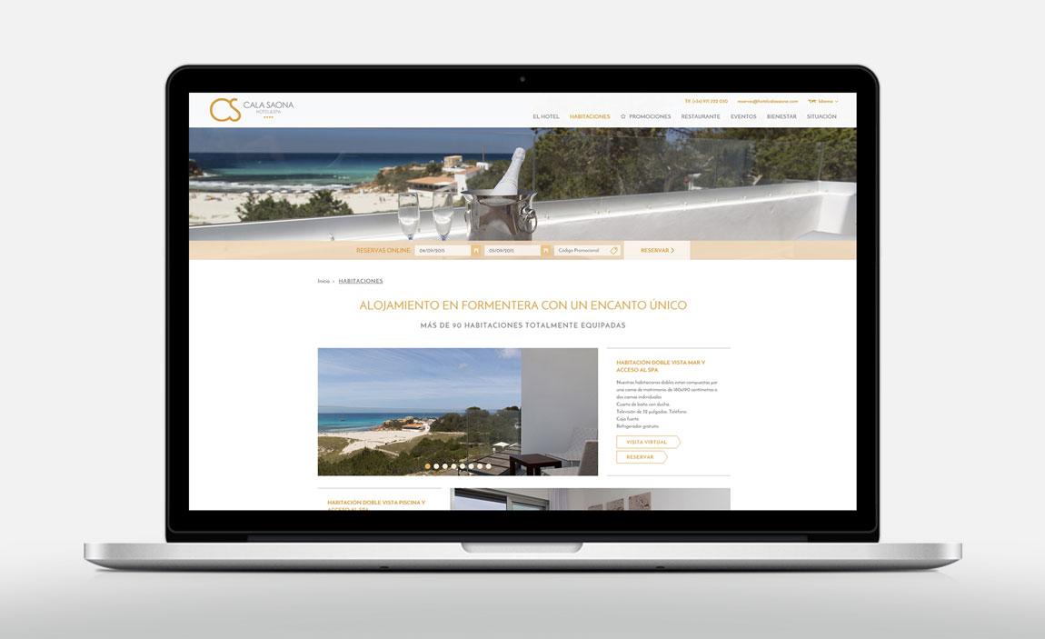 Desarrollo web Cala Saona