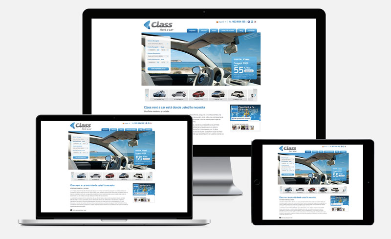 Class Rent a Car responsive design