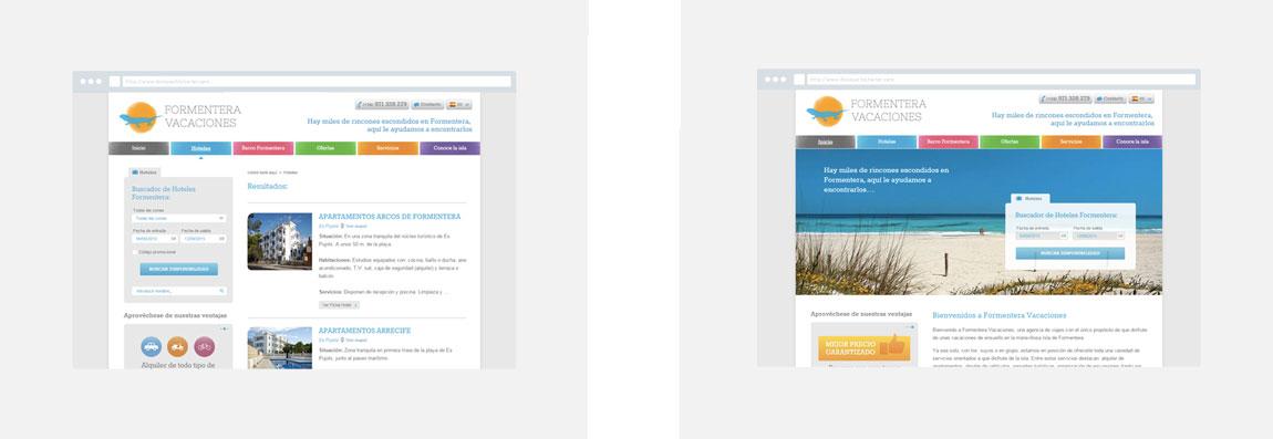 Servicios web Formentera Vacaciones