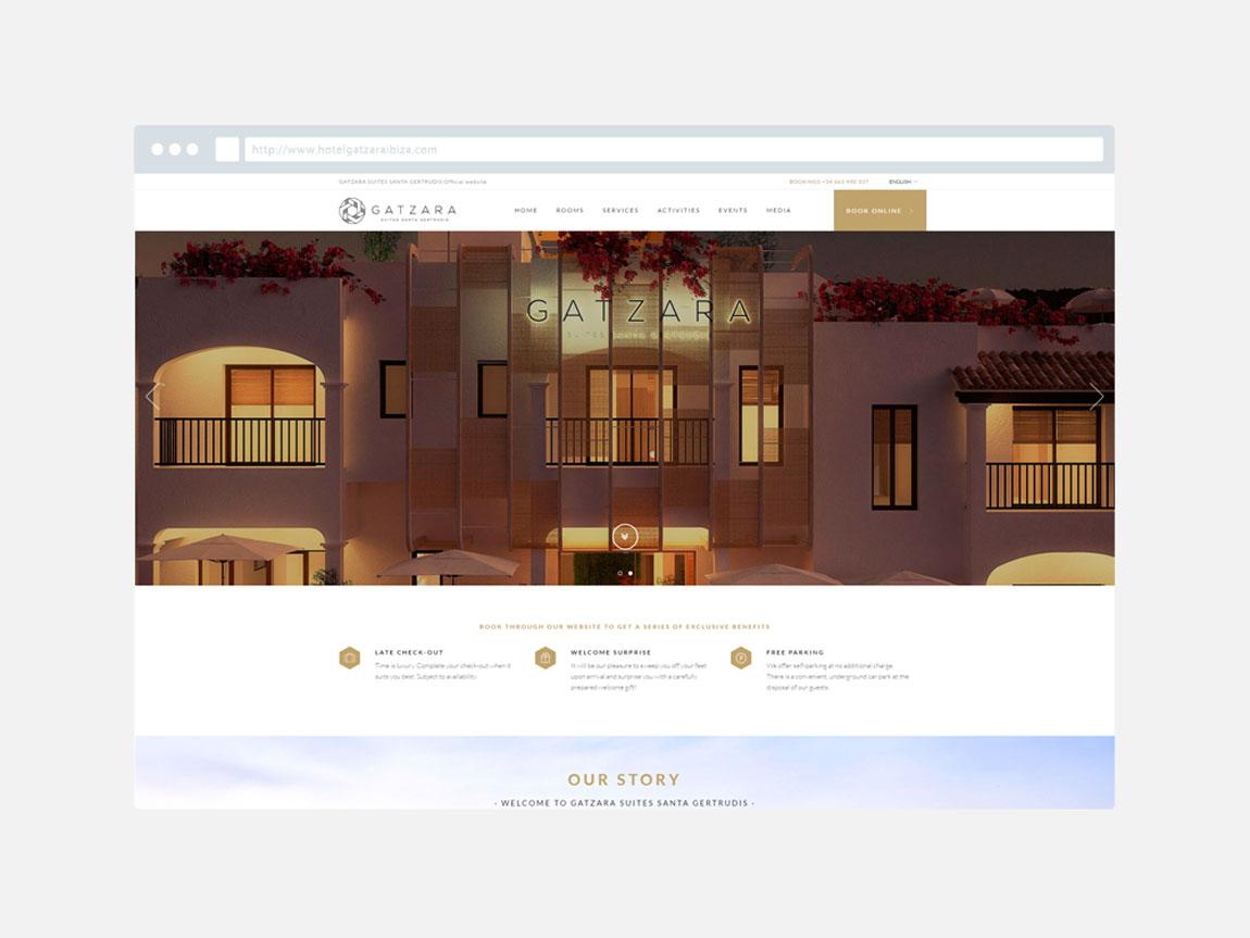 Posicionamiento web Hotel Gatzara Ibiza