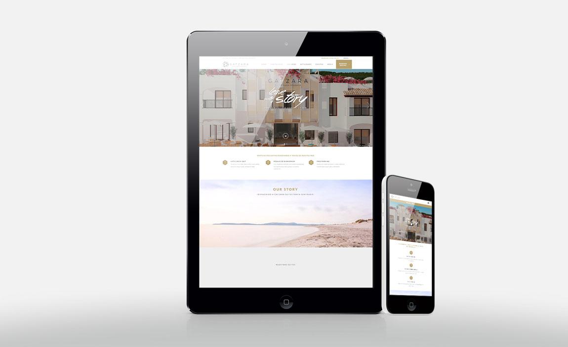 Responsive design Hotel Gatzara Ibiza