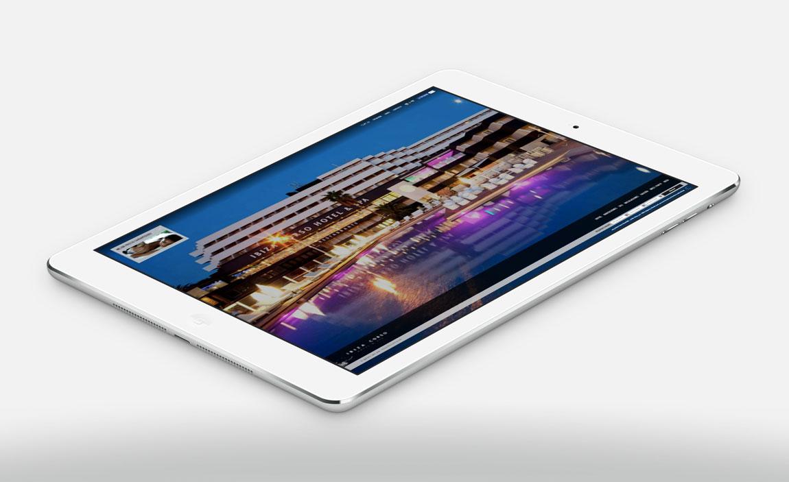 Ibiza Corso Hotel tablet