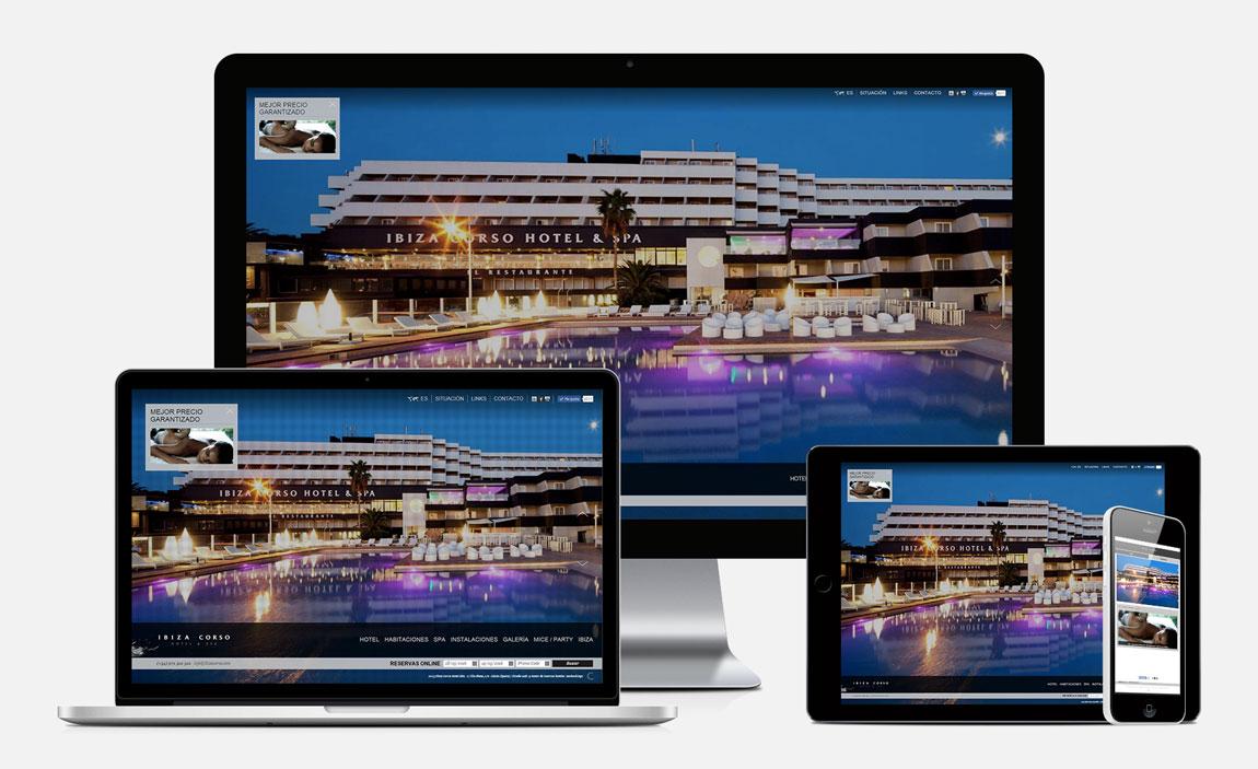 Ibiza Corso Hotel responsive design