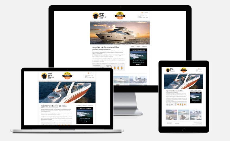 Ibiza Yacht Charter responsive design