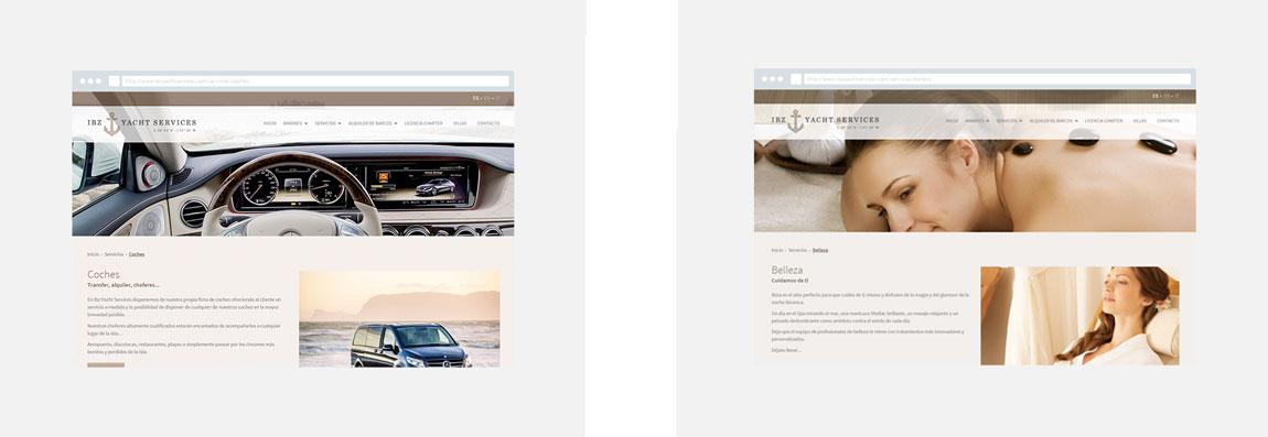 Desarrollo web IBZ Yacht Services