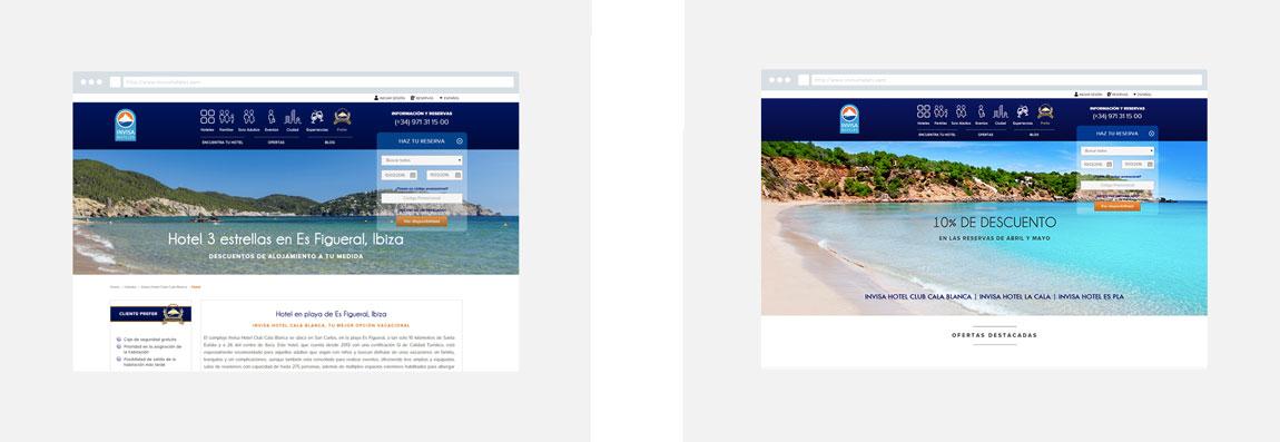Invisa Hoteles responsive design