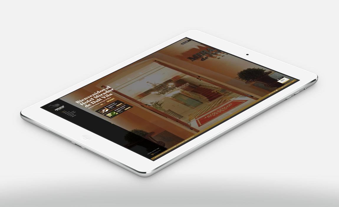 Mirador de Dalt Vila tablet