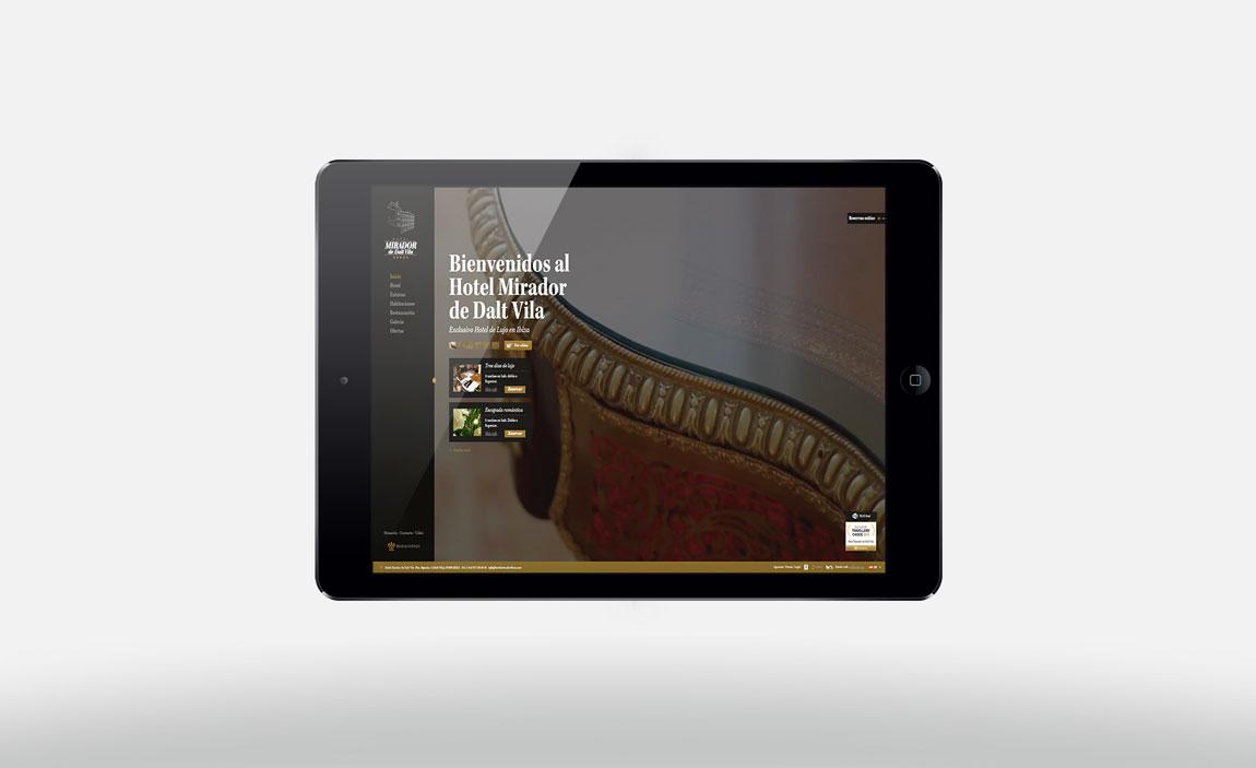 Desarrollo web Mirador de Dalt Vila