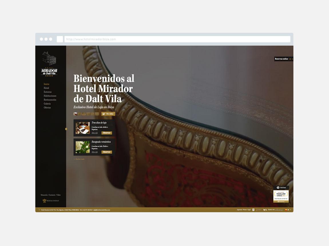 Posicionamiento web Mirador de Dalt Vila