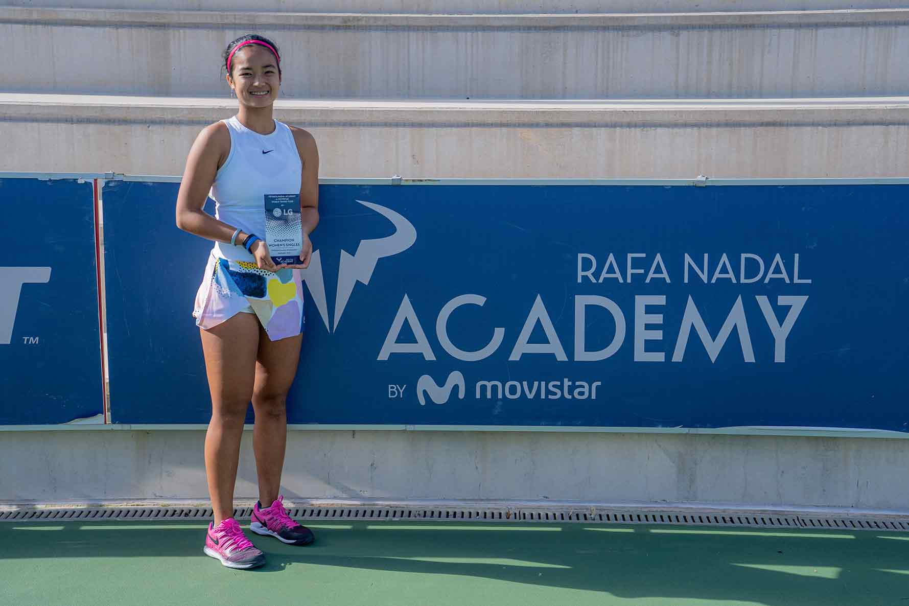 Alex Eala crowned champion at the Rafa Nadal Academy by Movistar