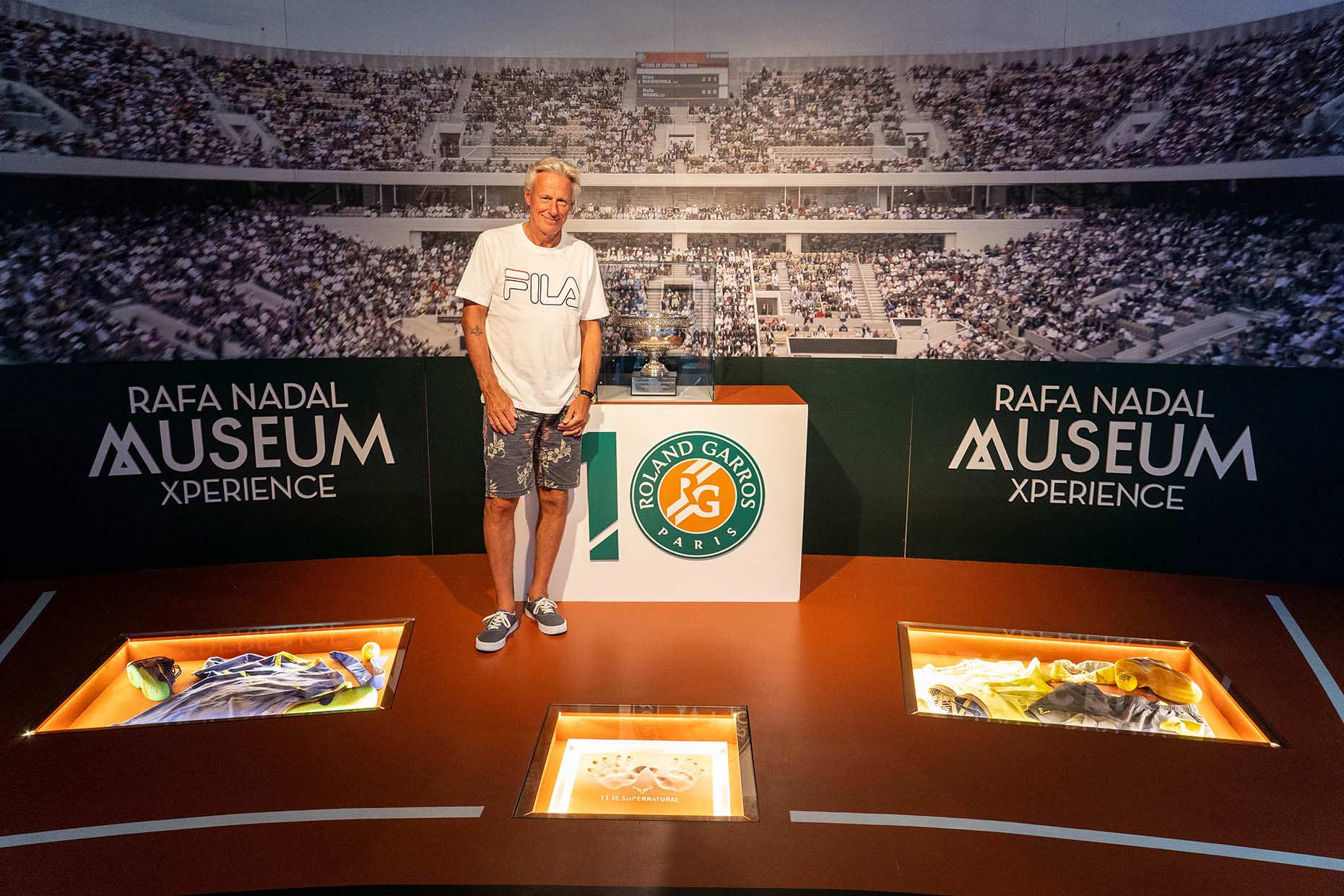 Björn Borg visits the Rafa Nadal Academy by Movistar