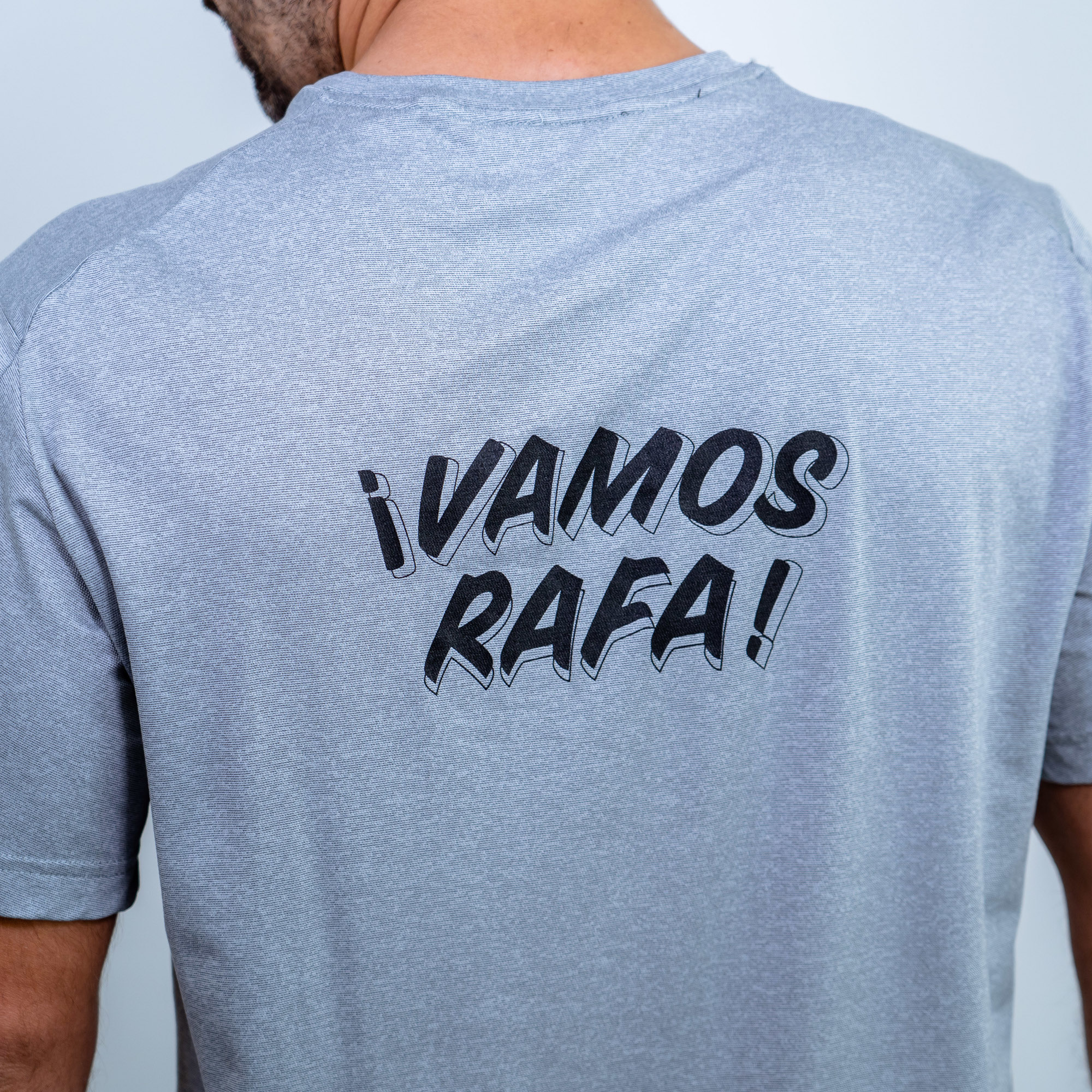 """VAMOS RAFA!"" becomes a T-shirt and facemask"
