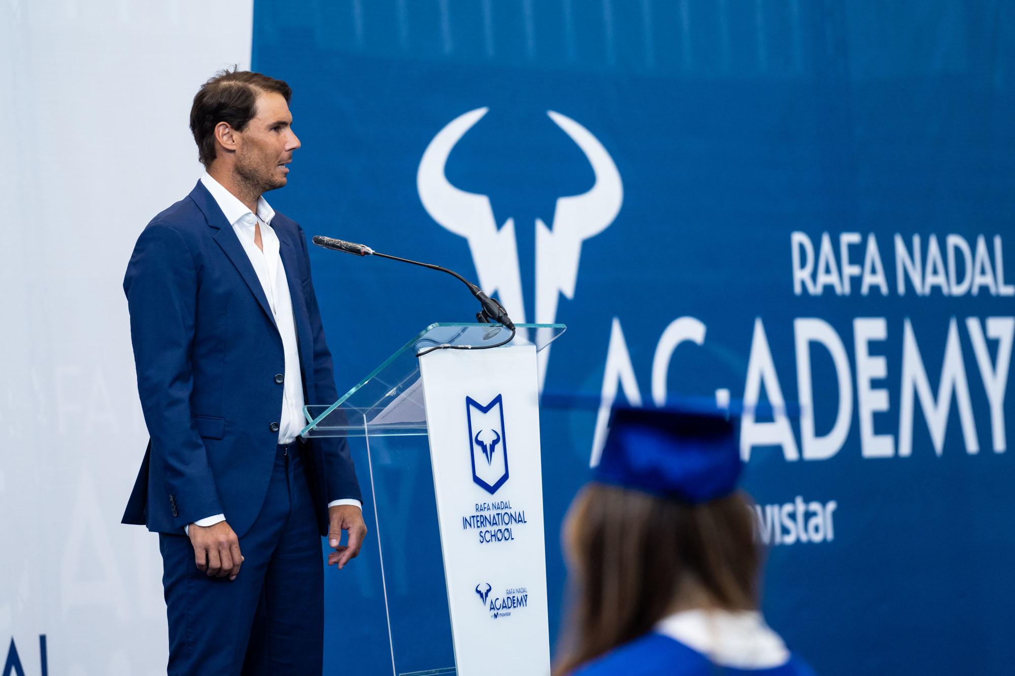 Federer And Sharapova Join Rafa Nadal Via Video Link At The Rafa Nadal International School Graduation