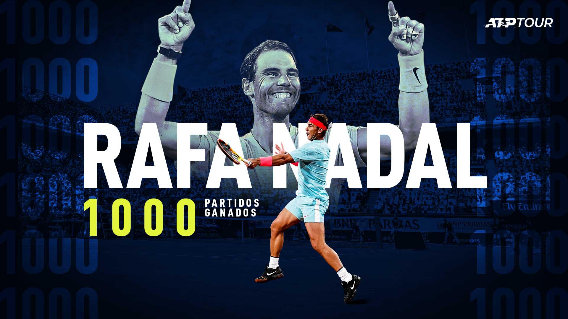 ¡Histórico! Rafa Nadal llega a las 1000 victorias
