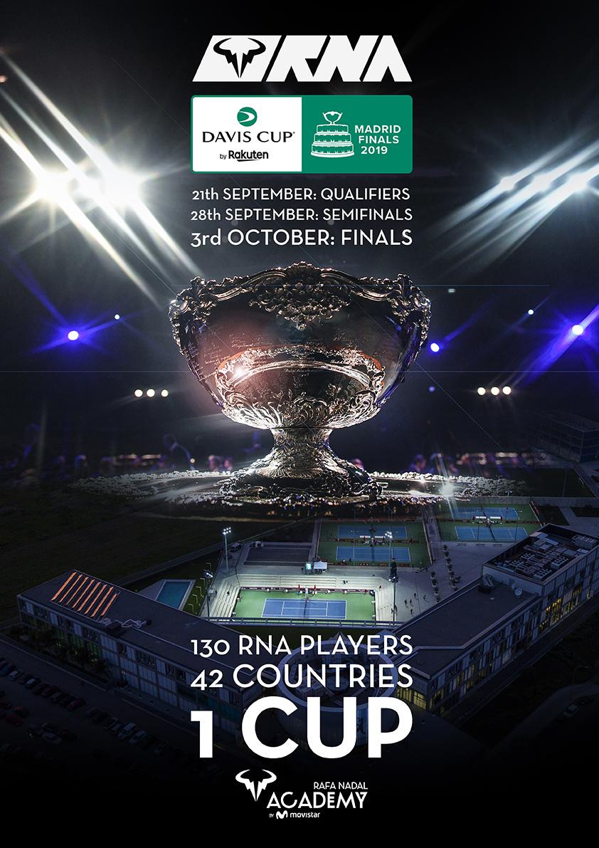 La Davis Cup by Rakuten Madrid Finals se juegan primero en la Rafa Nadal Academy by Movistar