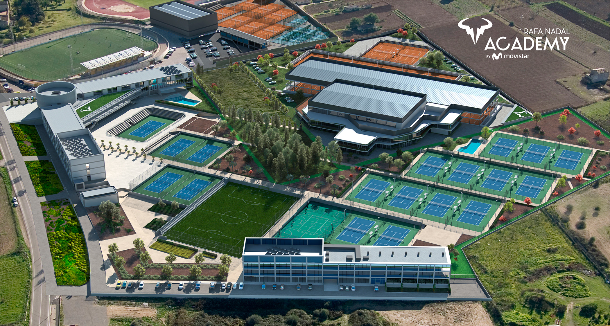 The Rafa Nadal Academy by Movistar consolidates its growth with the expansion of its facilities