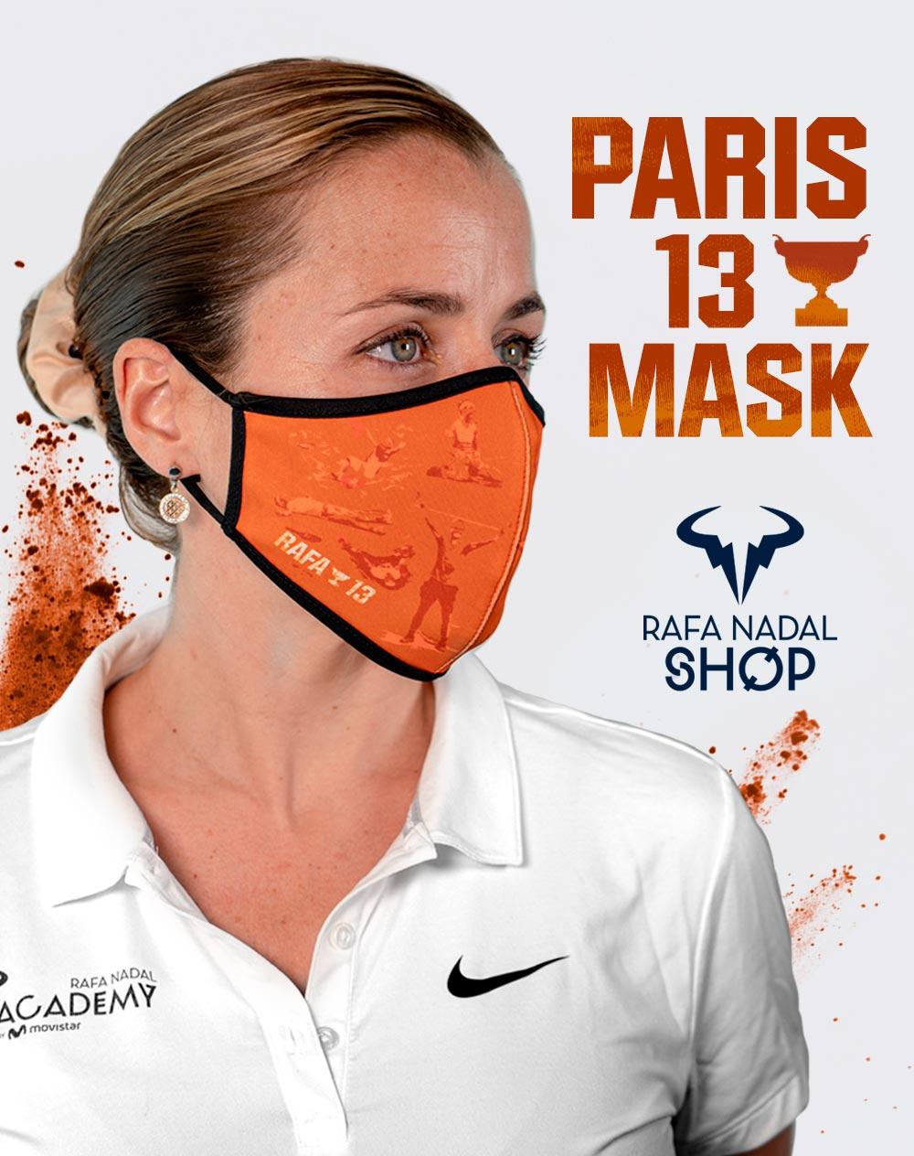 Los 13 Roland Garros de Rafa, inmortalizados en una mascarilla