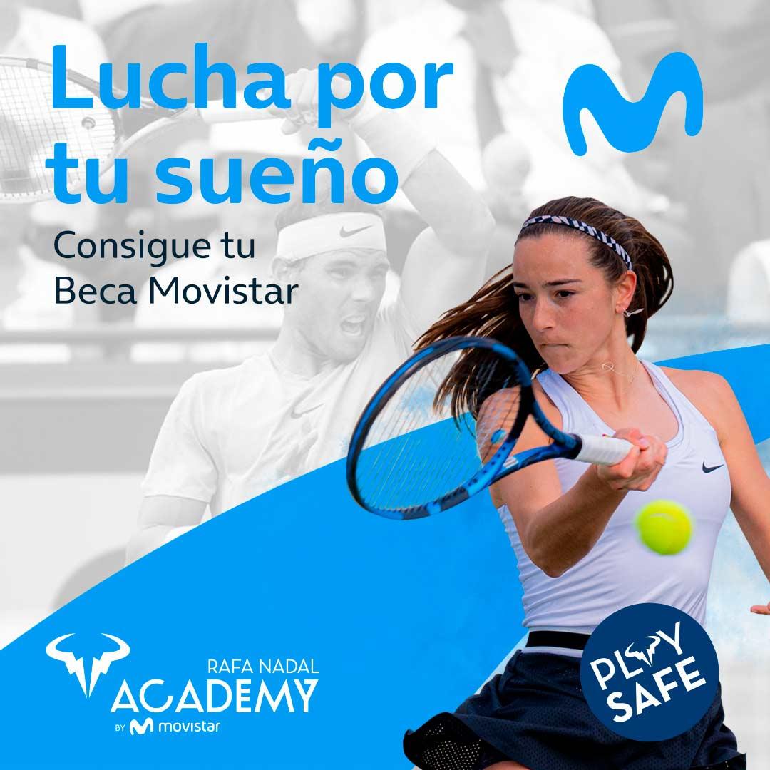 Movistar volverá a becar a jóvenes jugadores en la Rafa Nadal Academy by Movistar