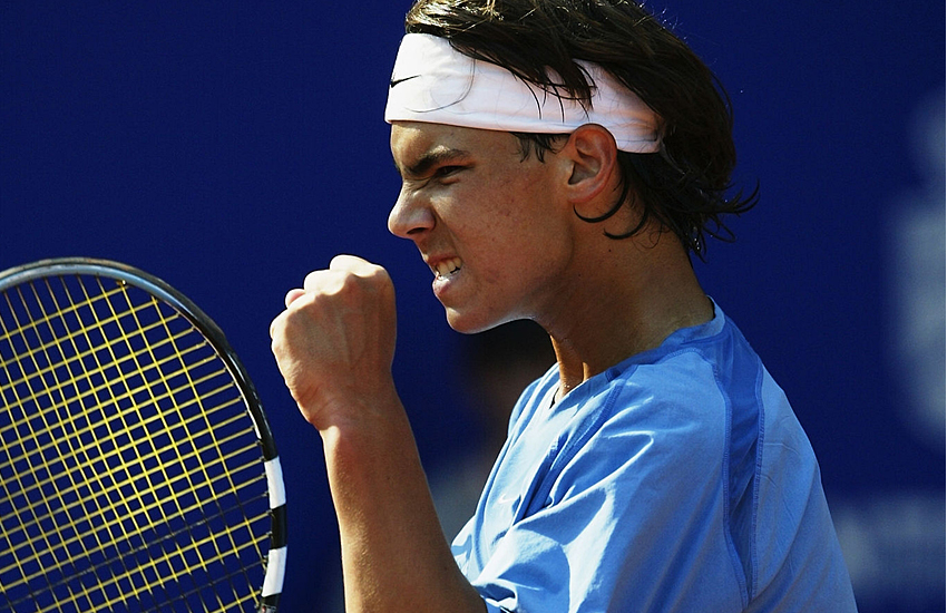 Nadal, the youngest player to win his first ATP match